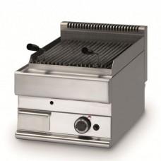 Griglie pietra lavica, modello BM-FPL6540, realizzata in acciaio inox AISI 304, potenza gas 5,5 Kw, n° 1 bruciatore, dimensioni 280x400x560h mm