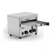 Tostapane rotativo medio professionale MRT 600, acciaio inox norma CE, motore ventilato, Produzione oraria 600 fette, Dimensioni 410x340x360 mm