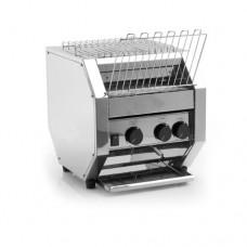 Tostapane rotativo maxi professionale MRT 700, acciaio inox norma CE, motore ventilato, Produzione oraria 700 fette, Dimensioni 410x340x360 mm