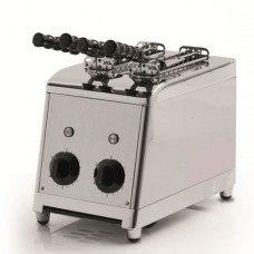 Tostapane verticale a 2 pinze professionale modello BM-MTP100, acciaio inox norma CE, produzione oraria 60 fette, dimensioni 180x300x300h mm