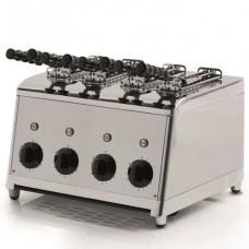 Tostapane verticale a 4 pinze professionale modello BM-MTP101, acciaio inox norma CE, produzione oraria 120 fette, dimensioni 370x300x300h mm