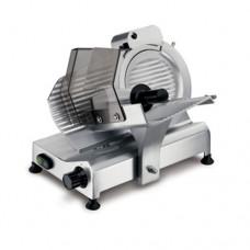 Affettatrice modello 220, a Gravità professionale, a norma CE, lama 220 mm, capacità di taglio 170x210 mm, motore monofase