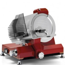 Affettatrice 220R Retrò professionale, a norma CE, lama 220 mm, capacità di taglio 170x210 mm monofase,rossa
