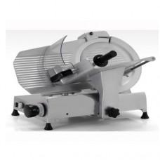 Affettatrice modello 275, a Gravità professionale, a norma CE, lama 275 mm, capacità di taglio 230x160 mm monofase