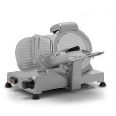 Affettatrice modello 220 ECO, a Gravità , a norma CE, lama 220 mm, capacità di taglio 230x160 mm, motore monofase