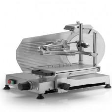 Affettatrice Verticale modello 300, professionale, a norma CE, lama 300 mm, capacità di taglio 240x190 mm, motore monofase
