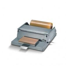Impacchettatrice manuale in acciaio inox, taglio con filo caldo a bassa tensione, modello DIPA INOX, a norma CE, dimensioni 590x720x185h mm