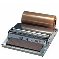 Impacchettatrice manuale in acciaio inox, taglio con filo caldo a bassa tensione, modello DIPA S, a norma CE, dimensioni 590x720x185h mm
