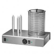 Hot Dog WD3, a norma CE, struttura in acciaio inox, dimensioni 480x300x350h mm