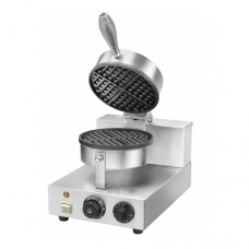Piastra per waffle, WM1, struttura in acciaio inox, Dimensioni 255x435x255/570h (mm)