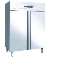 Armadio refrigerato GN2/1 in acciaio inox, modello GNV1200DT, dimensioni 1340x850x2010 mm, a doppia temperatura-2°C+8°C e-18°C-22°C