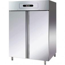 Armadio refrigerato GN2/1 statico, in acciaio inox AISI 304, modello GN1200TN, dimensioni 1340x800x2010 mm, capacità 1104 Lt, temperatura +2°C + 8°C