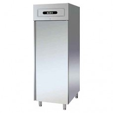 Armadio refrigerato GN2/1 in acciaio inox, modello GNV600DT, dimensioni 680x850x2010 mm,  a doppia temperatura-2°C+8°C e -18°C-22°C