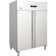 Armadio refrigerato GN2/1 statico, modello GNB1200TN, dimensioni 1340x800x2010 mm, temperatura +2°C + 8°C, capacità 1104 lt