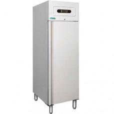 Armadio refrigerato GN2/1 statico, modello GNB600TN, dimensioni 680x810x2010 mm, temperatura +2°C + 8°C, capacità 507 lt