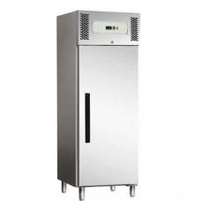 Armadio refrigerato GN2/1 ventilato, in acciaio inox AISI 430 modello ECV600TN, dimensioni 680x845x2000h mm, capacità 537 Lt, temperatura +2°C + 8°C