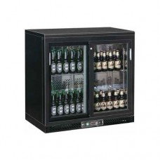 Bottle Cooler espositore refrigerato orizzontale per bibite, temperatura +2° +8° C dimensioni 920x535x925h mm, modello BC2PS