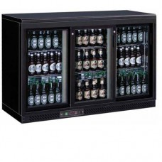 Bottle Cooler espositore refrigerato orizzontale per bibite, temperatura +2° +8° C, dimensioni 1350x535x925h mm, modello BC3PS