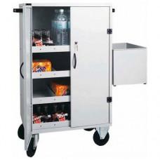Carrello rifornimento frigo-bar CR 1696 struttura in lamiera verniciata a polveri epossidiche,Dimensioni 80x50x118h cm