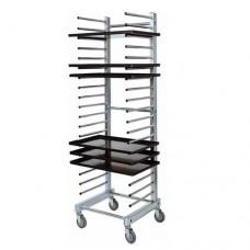 Carrello portateglie per pasticceria  CA 1480, struttura in acciaio inox ,dimensioni 51x47x177h cm
