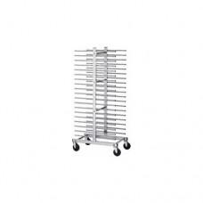 Carrello portateglie per pasticceria  CA 1480D, struttura in acciaio inox ,dimensioni  51x80x177h cm
