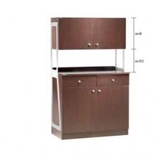 Mobile di servizio in legno, con 2 sportelli 2 cassetti e 2 pensili, dimensioni esterne 92x48x153h cm, modello ML 3212SSPW