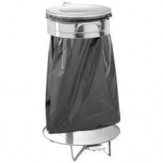 Pattumiera porta sacco rifiuti grande AV 4681 in acciaio inox, dimensioni 55x45x85h cm