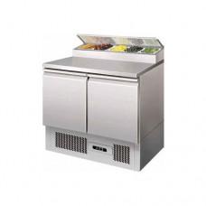 Saladette refrigerata statica, struttura in acciaio inox AISI 304, temperatura +2° +8° C dimensioni 900x700x1010h mm modello PS200