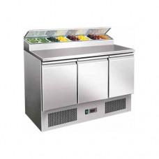 Saladette refrigerata statica, struttura in acciaio inox AISI 304, temperatura +2° +8° C dimensioni 1365x700x1010h mm modello PS300
