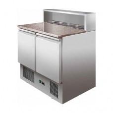 Saladette refrigerata statica, struttura in acciaio inox AISI 304, temperatura +2° +8° C dimensioni 900x700x1010h mm modello PS900