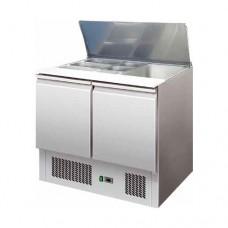 Saladette refrigerata statica, struttura in acciaio inox AISI 304, temperatura +2° +8° C dimensioni 905x700x880h mm modello S900