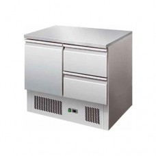 Saladette refrigerata statica, struttura in acciaio inox AISI 304, temperatura +2° +8° C dimensioni 900x700x870h mm modello S901-2D