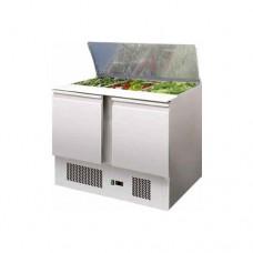 Saladette refrigerata statica, struttura in acciaio inox AISI 304, temperatura +2° +8° C dimensioni 1045x700x875h mm modello S902
