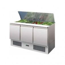 Saladette refrigerata statica, struttura in acciaio inox AISI 304, temperatura +2° +8° C dimensioni 1365x700x875h mm modello S903