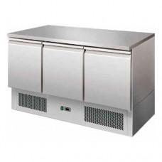 Saladette refrigerata statica, struttura in acciaio inox AISI 304, temperatura +2° +8° C dimensioni 1365x700x865h mm modello S903TOP