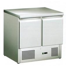 Saladette refrigerata statica, struttura in acciaio inox AISI 304, temperatura -12° -18° C dimensioni 943x700x850h mm modello SS45BT