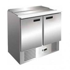 Saladette refrigerata statica, struttura in acciaio inox AISI 430, temperatura +2° +8° C dimensioni 905x700x880h mm modello SEC900