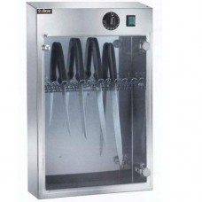 Armadietto sterilizzatore a raggi UV, capacità 10 coltelli, in acciaio inox, dimensioni 41x16x61h cm, modello SUV 10