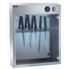 Armadietto sterilizzatore a raggi UV, capacità 14 coltelli, in acciaio inox, dimensioni 51x16x61h cm, modello SUV 14