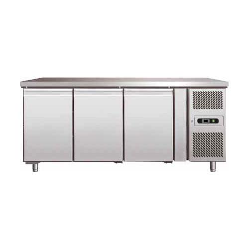 Tavolo refrigerato ventilato, in acciaio inox AISI 304 temperatura +2 ...