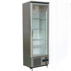 Vetrina espositiva refrigerazione ventilata, struttura in acciaio inox temperatura +2° +8° C dimensioni 600x520x1872 mm