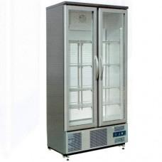 Vetrina espositiva refrigerazione ventilata, struttura in acciaio inox temperatura +2° +8° C dimensioni 920x520x1872 mm