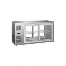 Vetrinetta refrigerata ventilata acciaio inox 18/10, temperatura +2° +8° C dimensioni 1110x515x555h mm