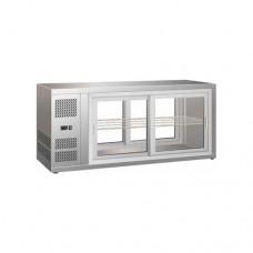 Vetrinetta refrigerata ventilata acciaio inox 18/10, temperatura +2° +8° C dimensioni 1310x515x555h mm