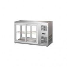 Vetrinetta refrigerata ventilata acciaio inox 18/10, temperatura +2° +8° C dimensioni 910x515x555h mm