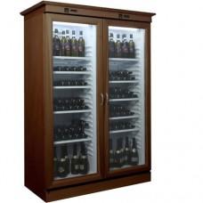 Cantinetta per vini refrigerata statica, mobile in legno, temperatura +2° +8° C, dimensioni 1325x660x1870h mm, modello KL2792