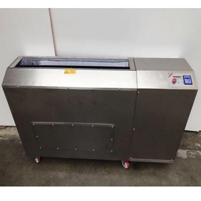 Lavasalumi automatica professionale struttura completamente in acciaio inox AISI 304 carrellata, lavaggio combinato tra spazzole e acqua, dimensioni esterne 1700x540xh1040 mm