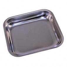 Piatto raccoglitore in acciaio inox, dimensioni 246x222 mm