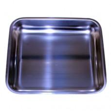 Piatto raccoglitore in acciaio inox, dimensioni 290x260 mm