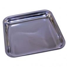 Piatto raccoglitore in acciaio inox, dimensioni 320x320 mm